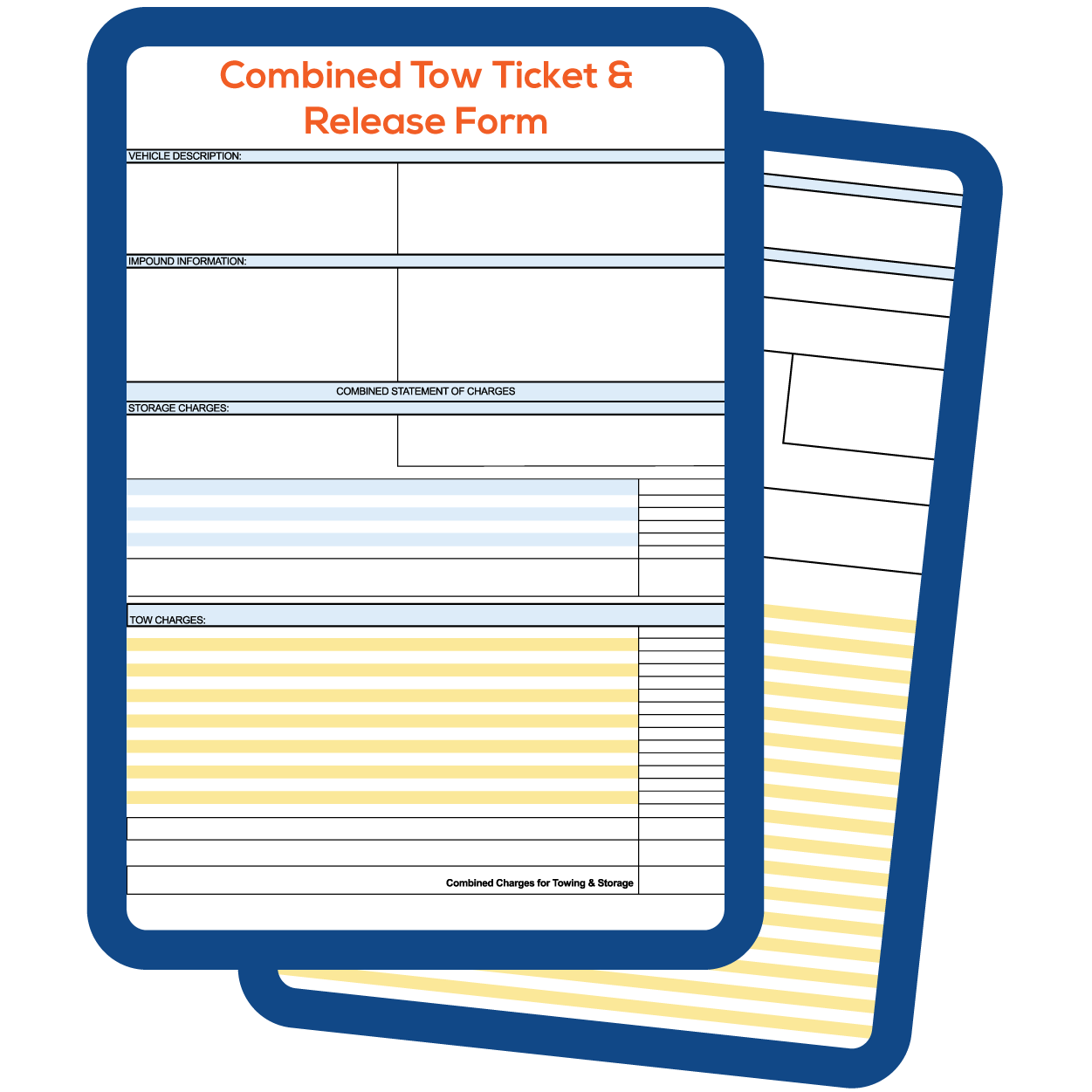 COMBINED TOW TICKET & VEHICLE RELEASE FORM