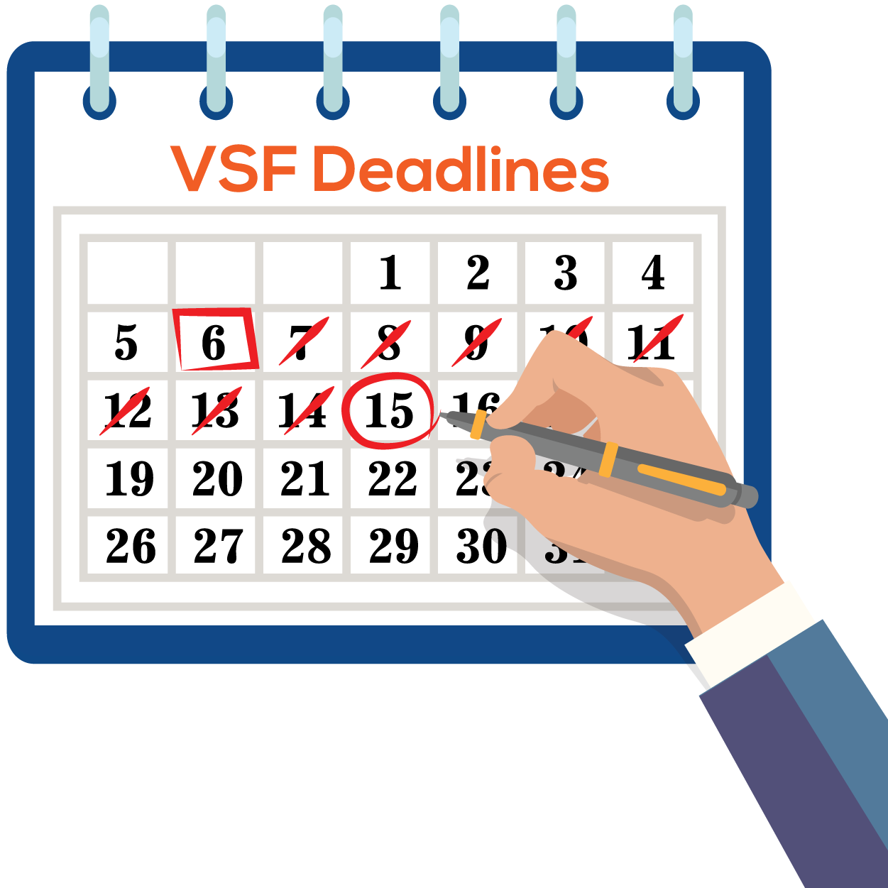 VSF DEADLINE CALCULATOR